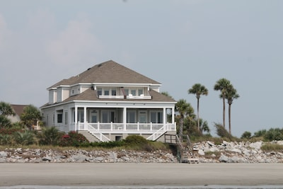 The ultimate beach house! View from the water. We are the unit on the left.