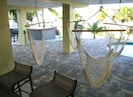 Hammock lounge and covered patio