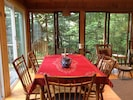 Large dining table seats 8.