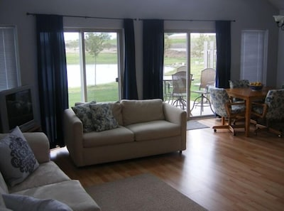 Great Room to Pond - Fresh Paint, New Rug, Coffee Table, & Curtains Since Photo!