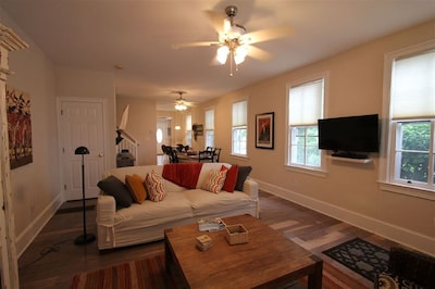 Large, open, bright living room
