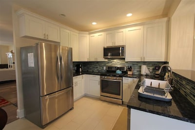 Large, open, updated kitchen with great new appliances.