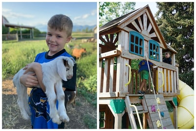 Kids love meeting the animals & playing in the spacious back yard