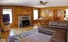 Cozy wood burning fireplace