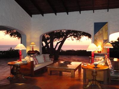 Sunset at Tamarind house
