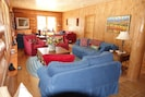Great room over looking the Lake Fork of the Gunnison River