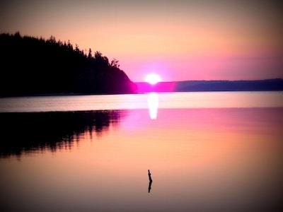 Sunrise on an August morning.