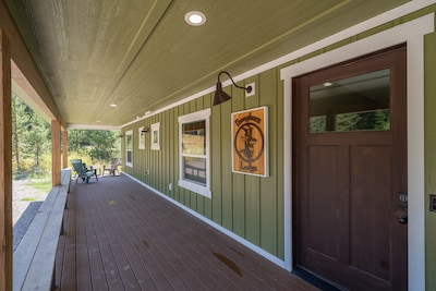 Come and spend time on our wrap-around porch.