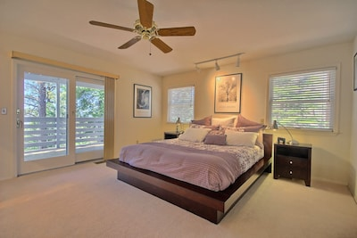 Cal King master bedroom with your own personal bath.