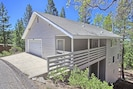Yosemite Hideout  features a large front porch and huge 2 car garage!