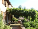 Front terrace, pergola