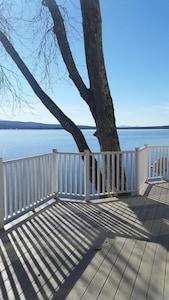 view from wraparound deck