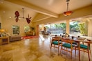 Open floor plan dining and living area