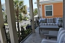 Plenty of places to sit on 2nd Floor Front porch