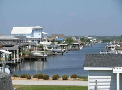 One of Surf City's scenic canals, viewed from back deck