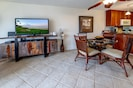 Dining Area, Living Room and Full Kitchen with Microwave, Stove, and Dishwasher