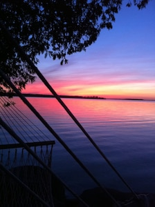 Sunset from the hammock