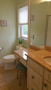 Master bath with seating area