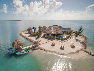 1.5 acre island paradise located just 3/4 of a mile from the center of Placencia