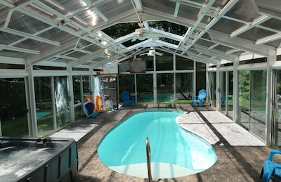 Private Indoor Pool With A Beautiful House Attached Ludlow