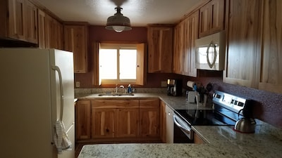 Updated kitchen with convection oven