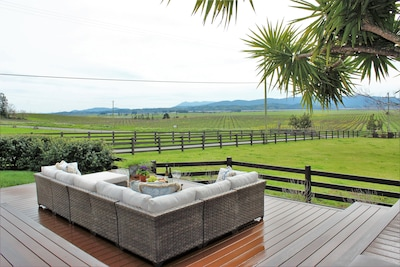 Gorgeous views on side deck facing west