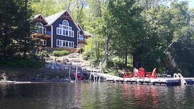 Newly Built 4 Bedroom/3 Bath Lake Front Cottage In A Private Setting