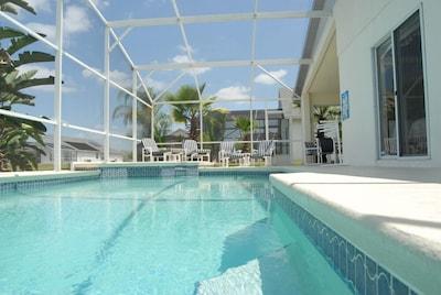 Designer Pool with raised Spa