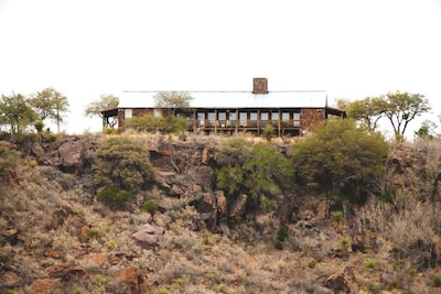 View of house from Muzquiz Canyon