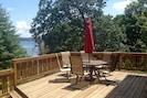 The deck overlooks Kentucky Lake.