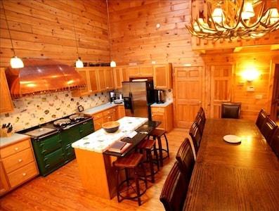 Gourmet Kitchen with Aga cookstove