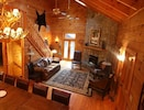 Luxurious Great Room with gas logs