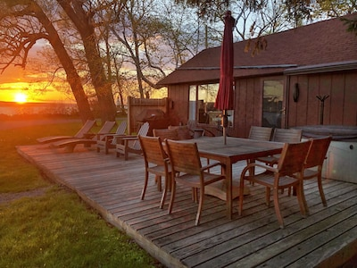 Front deck at sunset