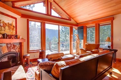 Living Room with plenty of Sun exposure.  Looks directly to Squaw Creek