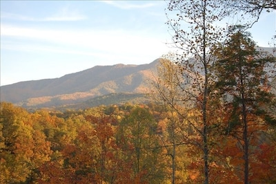 View of Mt. LeConte from covered porch