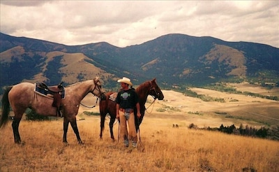 We offer scenic horseback rides with amazing views of the area.