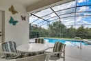 Peaceful patio with conservation view