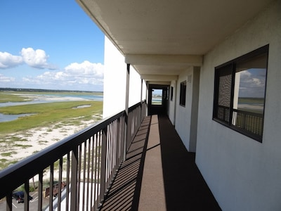 Almost to 803 By The Sea, enjoy views of the Intracoastal Waterway to your left.