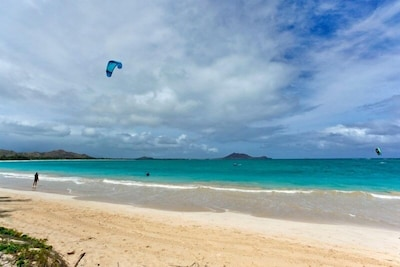 Kite surfing on our beautiful beach