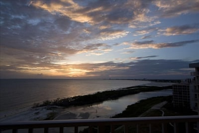 Sunset From Your Private Balcony. 11th Floor makes the view simply stunning!