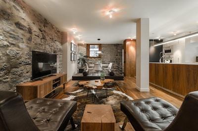 Gorgeous 1890's Modern Stone Apartment-  DOWNTOWN MONTREAL