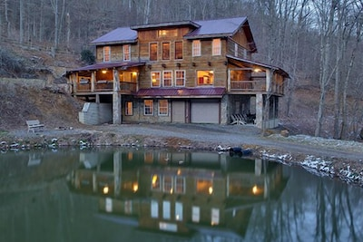 Waterfall Lodge has a waterfall off the back deck, plus hot tube.