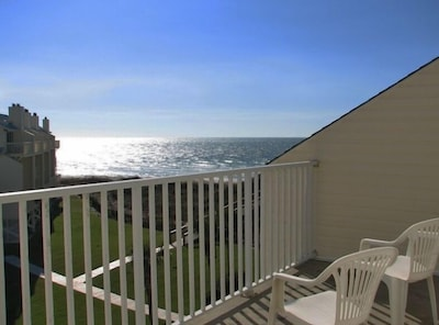 View of the Gulf of Mexico from the private deck off of the Master Bedroom