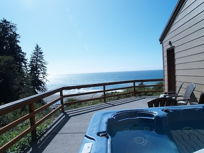 Private &  secluded view from hot tub