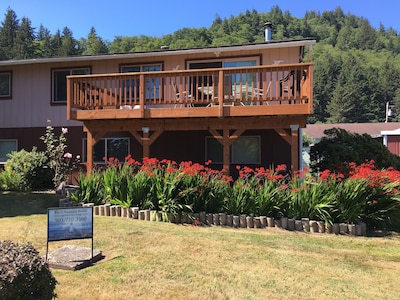 View of the new deck and the new landscaping-2017