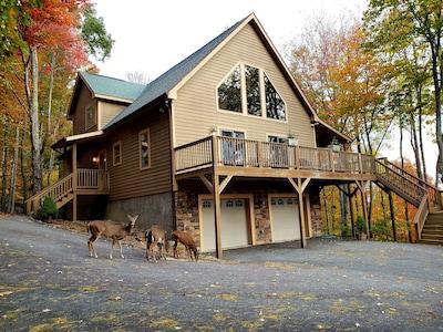 4 Bedroom, 4 Bath, hardwood floors, 2 fireplaces, beautiful mountain view & deer