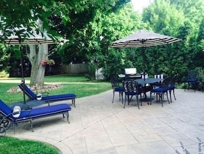 Amazing backyard, lots of space for enjoying summer fun!