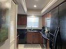 Kitchen-double stainless sink, garbage disposal, dishwasher, drip coffee maker