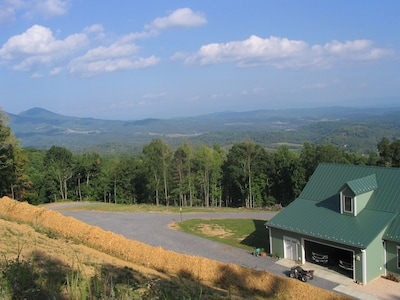 A view of the Blue Ridge from above the house