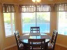 Dining Nook with view of Pool in kitchen